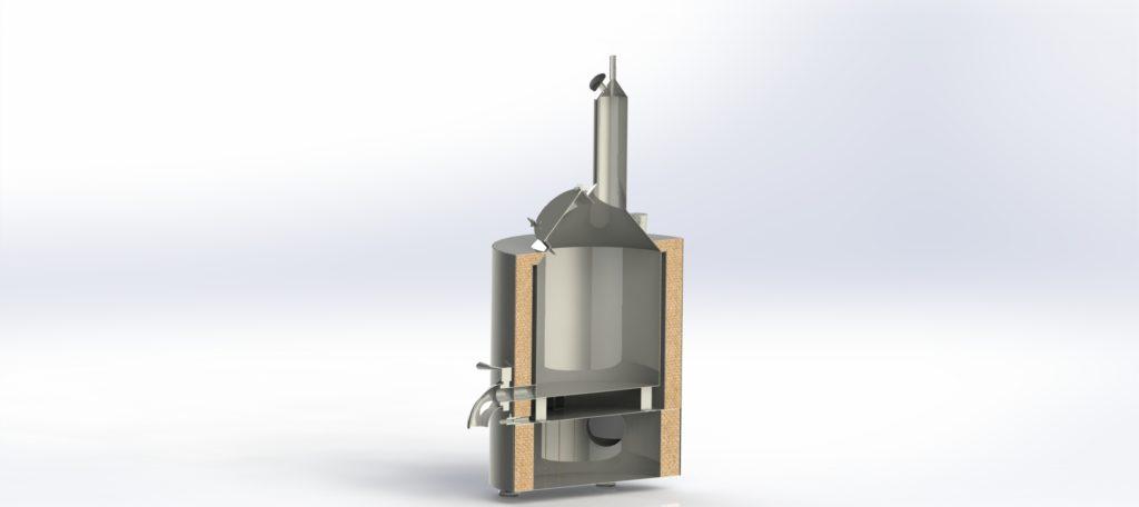 nerezovy destilacni kotel